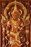 Деревянная дверь: искусство стоковые изображения