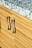 Деревянная дверь шкафа Стоковое Фото