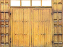 Деревянная дверь Стоковое Изображение