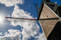Деревянная ветрянка Брюгге в Бельгии Стоковые Изображения