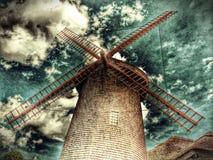 Деревянная ветрянка Стоковое Изображение RF
