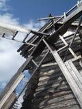 Деревянная ветрянка стоковые фотографии rf