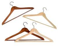 Деревянная вешалка пальто стоковые фотографии rf