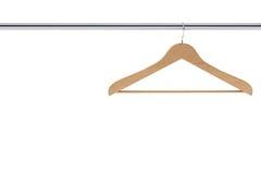 Деревянная вешалка пальто Стоковые Фото