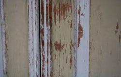 Деревянная винтажная дверь Брайна Стоковые Фото