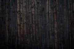 Деревянная винтажная предпосылка планки покрашенной чернотой Стоковое Фото