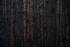 Деревянная винтажная предпосылка планки покрашенной чернотой Стоковая Фотография