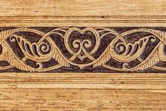 Деревянная восточная картина в дворце Dulber, Крыме, Украине, предпосылке Стоковое Изображение RF
