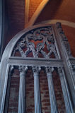 Деревянная входная дверь Стоковые Фотографии RF