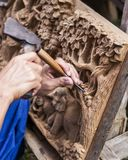 Деревянная высекая работа Стоковые Изображения