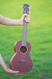 Деревянная гавайская гитара изолированная дома Стоковая Фотография RF