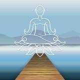 Деревянная гора Будда пристани Стоковое Фото
