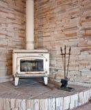 Деревянная горящая печь Стоковое Изображение RF