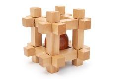 Деревянная головоломка Стоковое Изображение RF