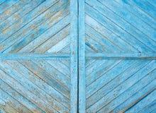 Деревянная голубая текстура grunge Стоковые Фото