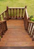 Деревянная гравировка лестницы Стоковые Изображения