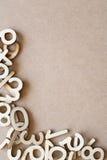 Деревянная граница чисел Стоковое Изображение