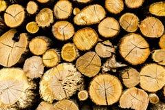Деревянная грубая текстурированная предпосылка Сосна прервала швырок штабелированный в woodpile стоковое изображение rf