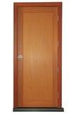 Деревянная дверь с ручкой Стоковое Изображение
