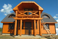 Деревянная дом стоковая фотография
