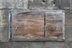 Деревянная доска для сообщений стоковое фото