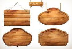 Деревянная доска, старый деревянный набор вектора иллюстрация штока