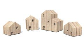 Деревянная деревня Стоковое Изображение RF