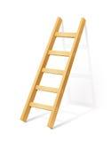 Деревянная лестница шага Стоковое фото RF