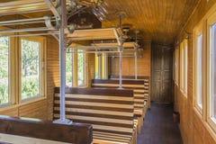 Деревянная железнодорожная фура Стоковое Изображение