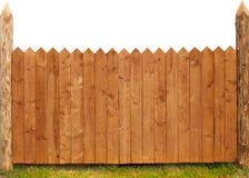 Деревянная загородка изолированная на белизне Стоковая Фотография