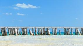 Деревянная загородка вокруг острова коралла видеоматериал