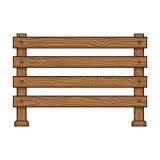 Деревянная загородка Значок различной загородки одиночный в сети иллюстрации запаса символа вектора стиля шаржа иллюстрация вектора