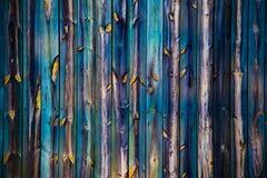 Деревянная загородка много цветов Стоковое Изображение RF