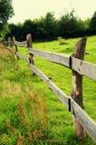 Деревянная загородка на луге Стоковое фото RF