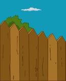 Деревянная загородка иллюстрация штока