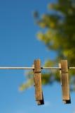 Деревянная зажимка для белья Стоковые Изображения RF