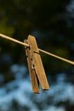 Деревянная зажимка для белья Стоковые Фото