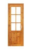 Деревянная застекленная изолированная дверь стоковое фото