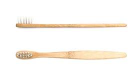 Деревянная зубная щетка Стоковое фото RF