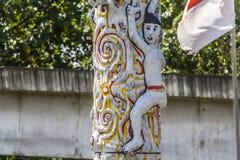 Деревянная диаграмма от Индонезии на напряжении Стоковые Фотографии RF