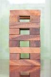 Деревянная игра башни блока для детей Стоковые Изображения RF