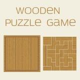 Деревянная игра головоломки с надписью стоковая фотография rf