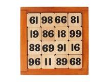 Деревянная игра на белизне стоковое изображение rf
