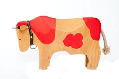 Деревянная игрушка коровы Стоковые Изображения RF