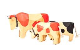 Деревянная игрушка коровы Стоковое фото RF