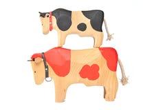 Деревянная игрушка коровы Стоковое Фото