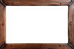 Деревянная изолированная рамка, Стоковое фото RF