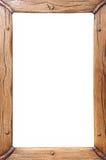 Деревянная изолированная рамка, Стоковое Изображение