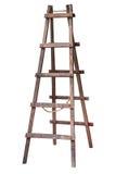 Деревянная изолированная лестница Стоковое фото RF
