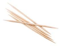 Деревянная изолированная зубочистка Стоковая Фотография RF